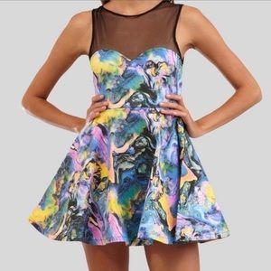 Fairground 'Pretty Woman' Backless Skater Dress